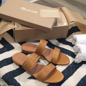 Madewell camel sandals size 10